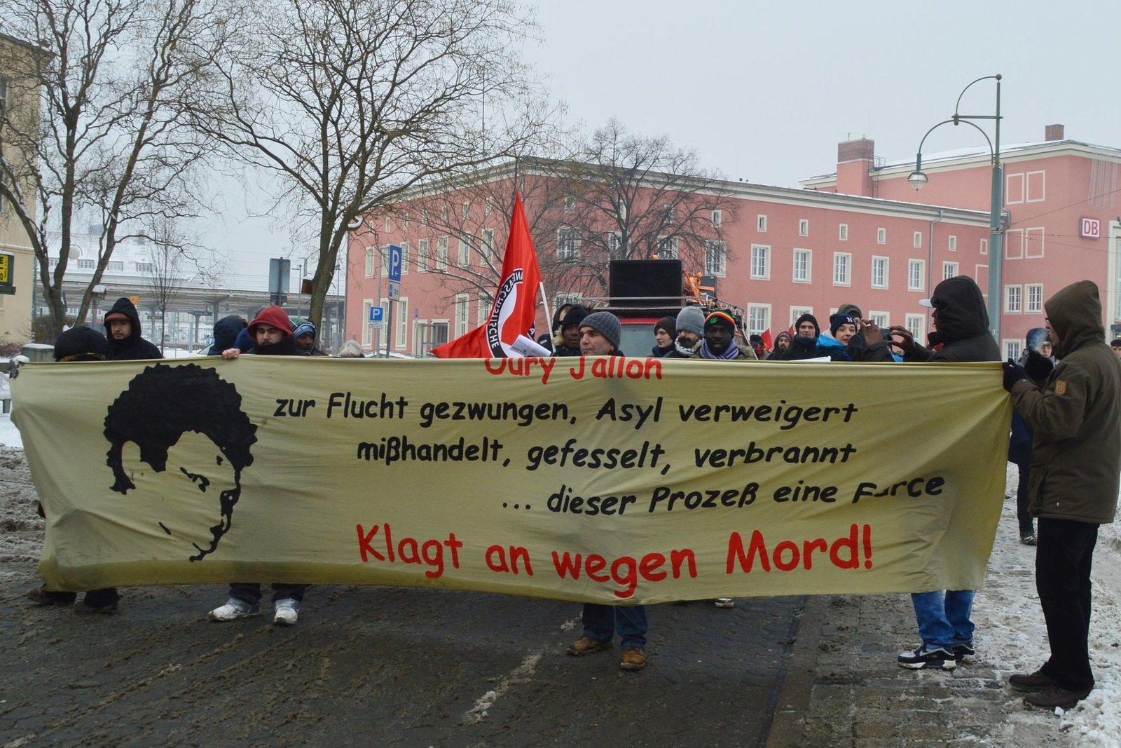 Demonstration in Dessau